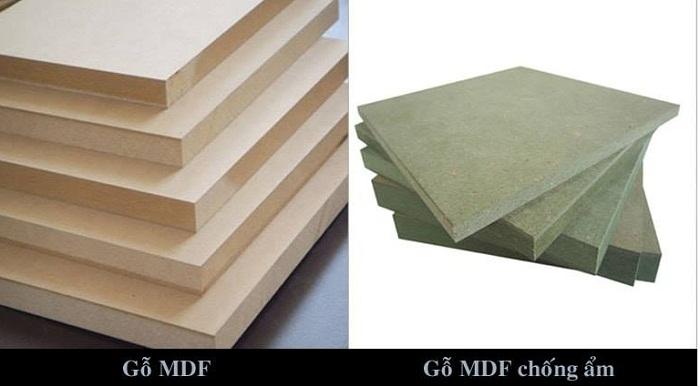 phân biệt gỗ MDF